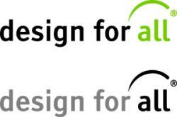 Logo: design for all – Zentrum für barrierefreie Lebensräume